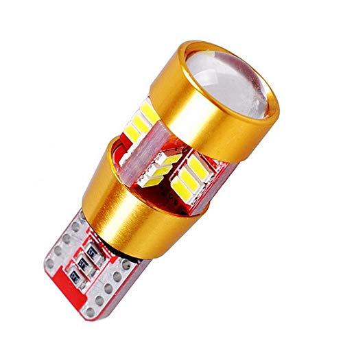 Ligero 1 UNIDS T10 W5W 27 SMD LED LED Lectura interior Lámpara de estacionamiento débil 168 2825 27SMD CANBUS AUTOMÁTICO AUTOMÁTICO COLA DE CUADA COLLBILLA BLANCO DC 12V ( Emitting Color : White )