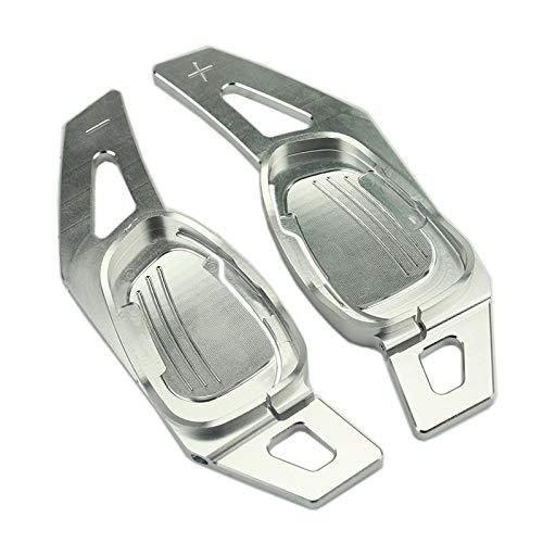 ADFIOADFH Decoración de la extensión de la extensión de la Paleta del Volante del Coche Decoración/Ajuste para Audi A5 S3 S5 S6 SQ5 RS3 RS6 RS7 Red Black Silver (Color : Silver)