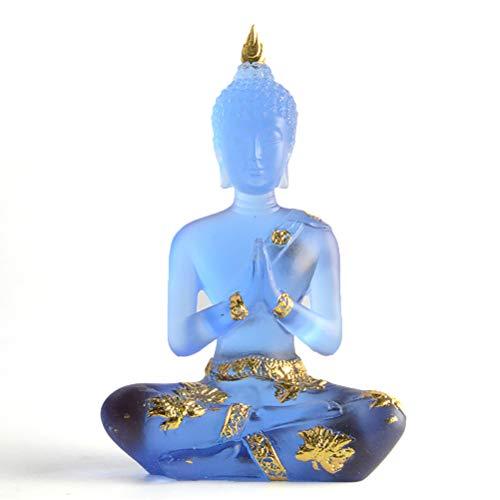 Mankoo Figura De Buda/Meditación Transparente Sentado Buda, Feng Shui, Figura De Decoración De Jardín Al Aire Libre, Estatua De Buda Zen