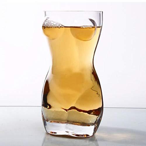 DYCLE Creativo Taza de Cerveza Copas de Vino Macho Belleza de la Personalidad de Vidrio Transparente Copa de Vino Personalizada