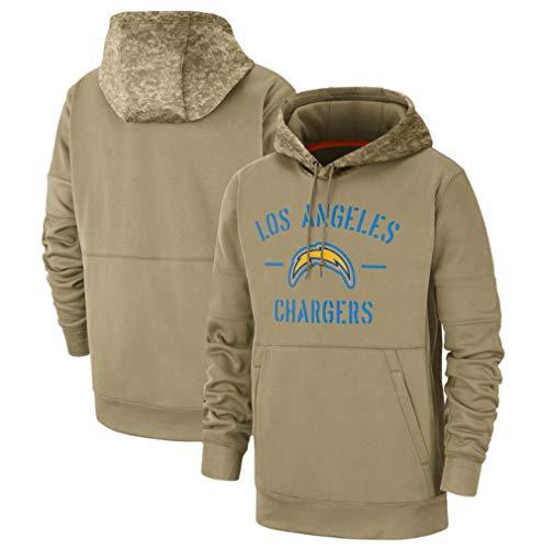 Heren NFL Los Angeles Chargers Hoodie Pullover Sweatshirts Fans Jersey Amerikaanse Voetbal Hooded Tops Groet aan Service Rugby Voetbal Team Uniform, Lange mouwen Sport Trainingskleding met Pocket