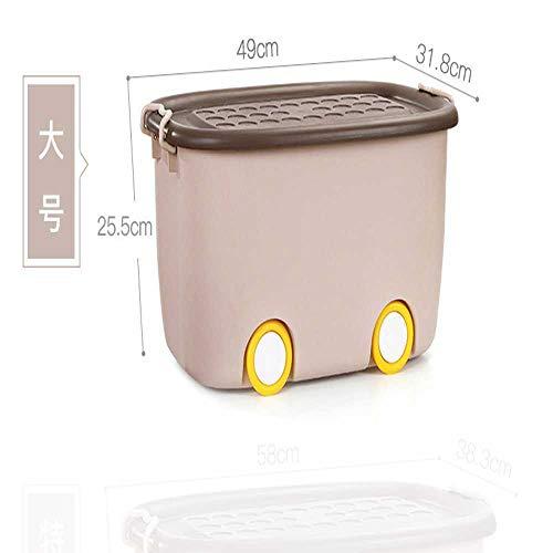 ZYHBB Caja de Acabado de Juguete para niños de Gran tamaño, plástico Engrosado a Prueba de Polvo con Tapa, polea de Dibujos Animados, Caja de Almacenamiento de Ropa de bebé