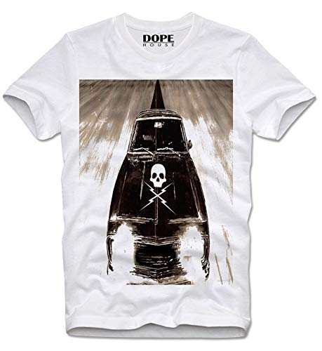 DOPEHOUSE T-Shirt Planet Terror Death Proof Stuntman Mike Tarantino Grindhouse Cult Kultfilm Rodriguez Movie L White