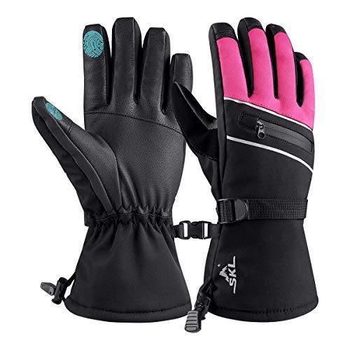 Skihandschuhe Schnee Handschuhe Touchscreen Herren Damen Winter Thermohandschuhe für Skifahren Radfahren Wandern Wasserdicht Winddicht