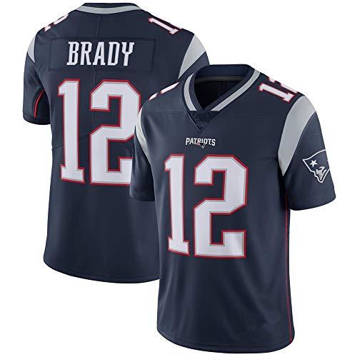 LQsy NFL Jersey Patriots 12# Tom Brady Rugby Anzug Kopie Stickversion (S-XXXL)