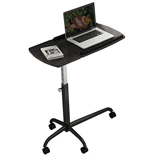 QQXX Computertafel, mobiel computertafel, laptoptafel, nachtkastje, in hoogte verstelbaar, werkstation, notebooktafel, dressoir, zwart ontbijttafel
