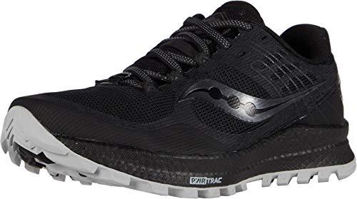 Saucony Women's Xodus 10 Walking Shoe, Black, 7.5 M US