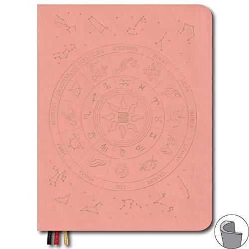 B5 Notizbuch, 17,8 x 22,9 cm, mit weichem Einband, 3 x 3 mm, gepunktet, um Ideen, Kratitude, Viktories und Glück zu zeichnen, Pink