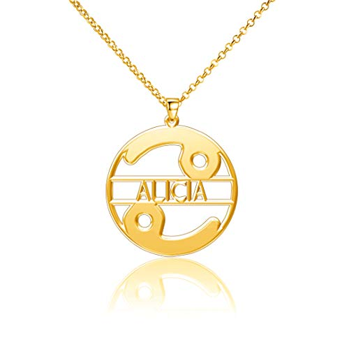 LoEnMe Jewelry Gold Plated Cancer Personalized Women Custom Emerald Louis Cremation Costco Name Alicia Necklace