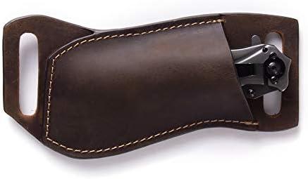 Gentlestache Leather Pocket Knife Sheaths for Belt Folding Knife Sheath EDC Belt Knife Sheath product image