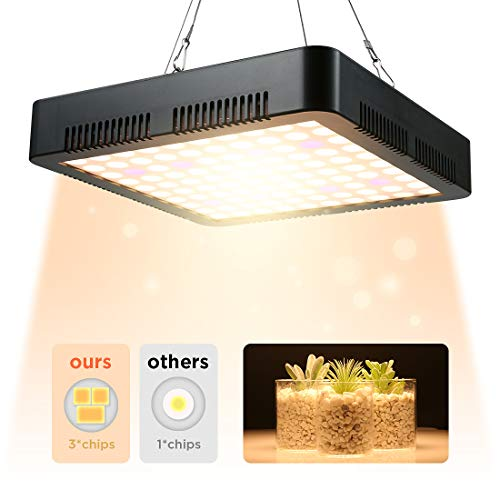 Newest LED Plant Grow Light 1000W Full Spectrum 3500k Sunlike Plant Light Dual-Chip with ON/Off...