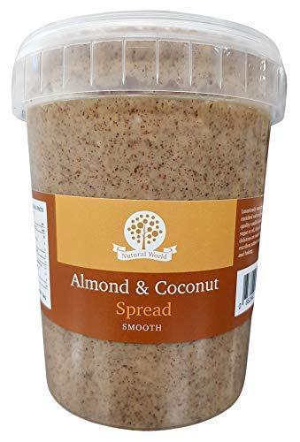 Nutural World - Aderezo suave de almendra y coco (1kg) Galardonado al mejor sabor