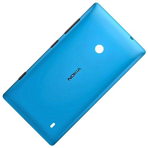 Original Akkudeckel cyan für Nokia Lumia 520 und 525 inklusive Laut/Leise, Ein/Aus und Kamera Taste