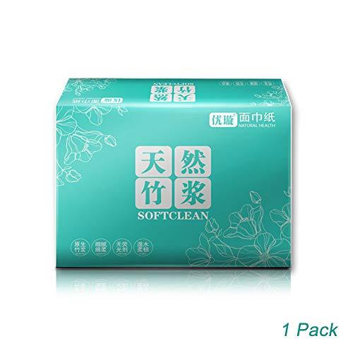 SDGDFXCHN Natürliches Bambus-Toilettenpapier, C-fach Toilettenpapier Biologisch abbaubarer Klärgruben-Safe Sicheres schnell auflösbares Toilettengewebe für Badezimmer