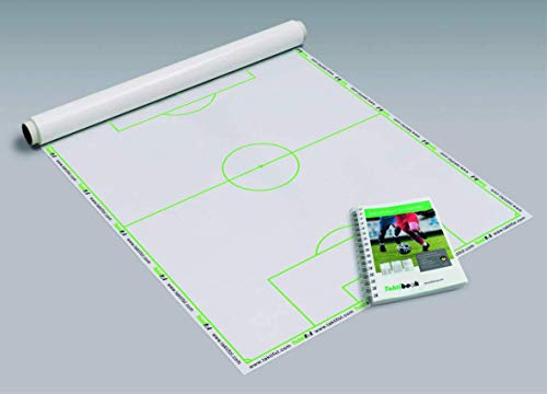 Taktifol Trainer-Set Fußball | ECO-Rolle mit 15 Folien + Taktibook Trainer-Jahrbuch Workbook Playbook