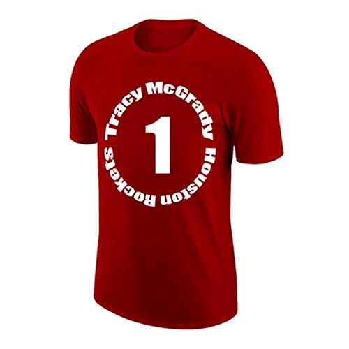 HYYYH Chaleco Exterior de algodón Unisex Camiseta Divertida de Tracy McGrady # 1 Camisetas de Entrenamiento para Aficionados al Baloncesto (Color : White, Size : XXXL)