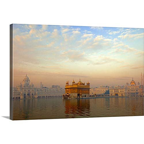 Dawn at The Golden Temple, Amritsar Canvas Wall Art Print, 48