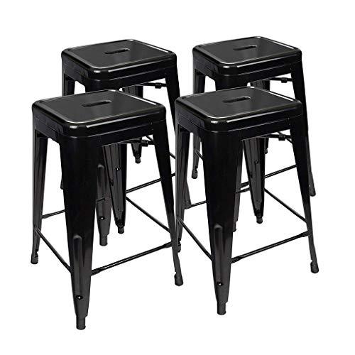 CYLQ barkruk voor kleine lunch in de keuken, hoogte van de teller, zittend, vierkant, van binnen en buiten, rugvrij, metaal, hoge stoel voor bar, 4 kleuren, 4 maten