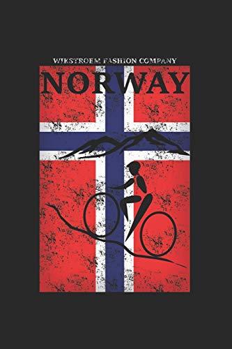 Wikstroem - Notes: Norwegen Berge Fahrrad used look - Notizbuch 15,24 x 22,86 kariert