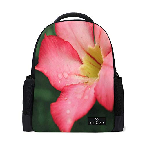 Travel Laptop Backpack Women Print Bookbags Pink Flower Best School College Student Daypack for Girls Teenage