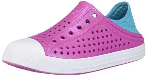 Skechers Girls' Guzman Steps Water Shoe, Hot Pink/Turquoise, 3 Medium US