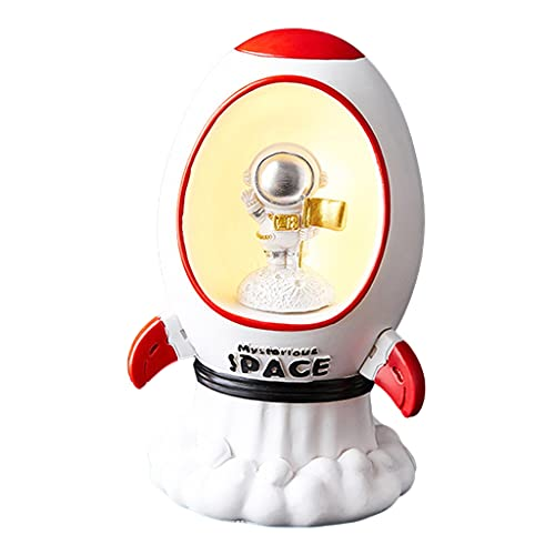MagiDeal Estatuillas de Astronauta Adorno de Pastel Figura de acción en el Espacio Exterior Estatua luz de Noche Rocket Spaceman Adorno de Escritorio - Bandera