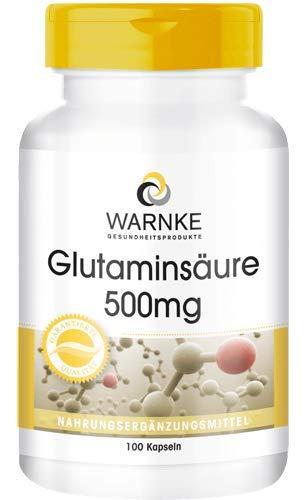 Glutaminsäure 500mg - vegan & hochdosiert - 100 Kapseln