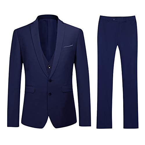 YOUTHUP Abito da Completo Uomo Slim Fit 3 Pezzi Elegante 2 Pulsante Blazer e Pantaloni