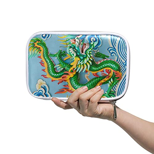 Caja de lápiz de dragón de China Bolsa de lápiz de cremallera Bolsa de lápiz de gran capacidad de la pluma de maquillaje