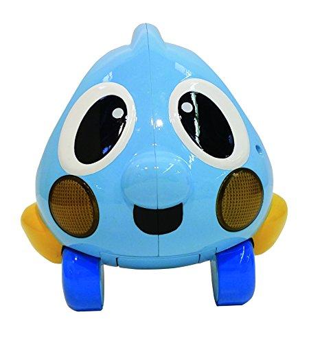 Little Tikes Lil Ocean Explorers Push n' Glow Poisson – Véhicule facile à tenir avec lumières & sons – Jouet de bébé bleu divertissant – Encourage les jeux imaginatifs, de la naissance à 3 ans