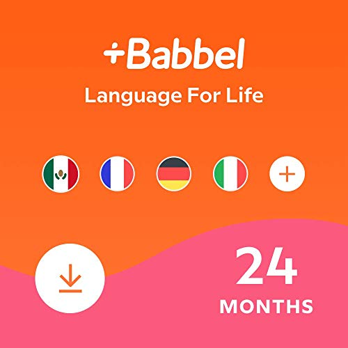 Babbel: Learn a New Language – Choose from 14 Languages including French, Spanish & English - 24 Month App Subscription for iOS, Android, Mac & PC [Online Software Download Code]