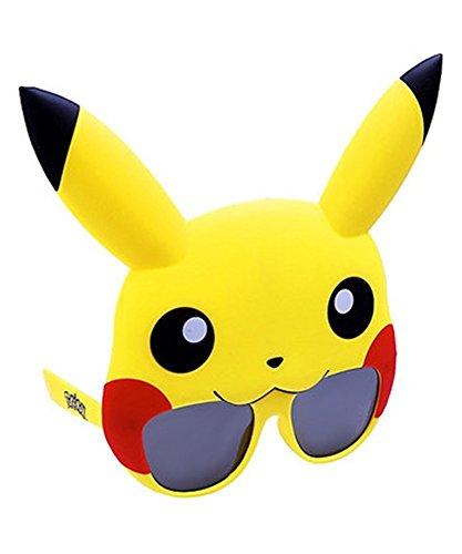 Sun-Staches Licensed Pokemon Pikachu Shades Costume Party Sunglasses UV400, Multi-Colored, One Size (Pokemon_Pika)