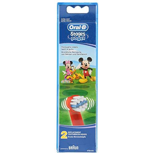 Oral-B Stage Power Bambini Testine di Ricambio per Spazzolino Elettrico Ricaricabile, 2 Pezzi