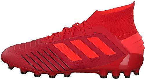 Adidas Predator 19.1 AG, Botas de fútbol para Hombre, Multicolor (Rojact/Rojsol/Negbás 000), 45 1/3 EU