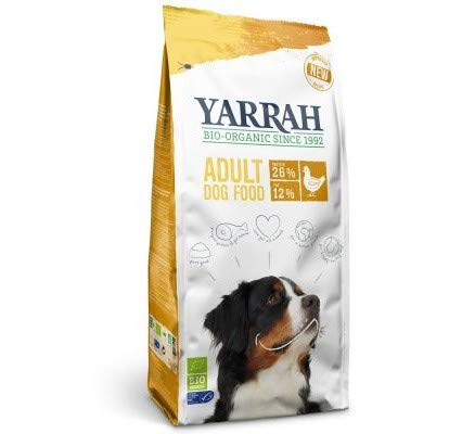 Yarrah Organic with Organic Chicken 15kg Balanced Dry Food Dogs with Grains from Controlled Organic Sources with Key Fibre Easy to Digest