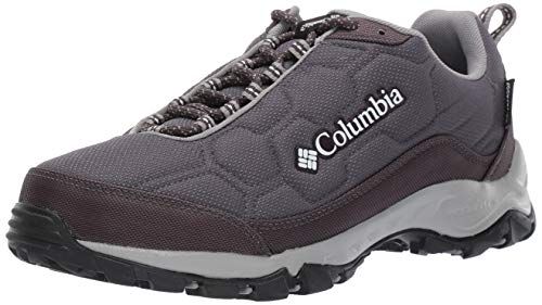 Columbia Women's Firecamp III Waterproof Hiking Shoe, Shark, White, 10.5 Regular US