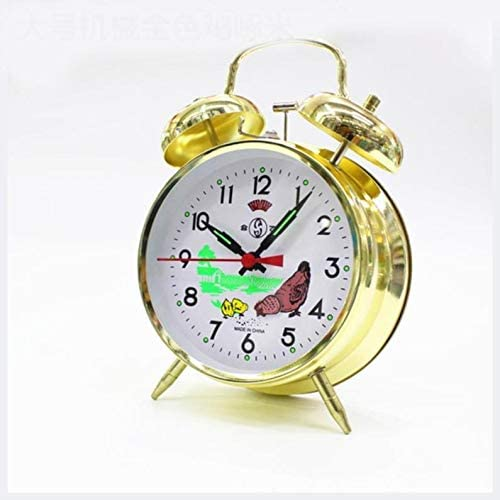 Chicken Vintage Max 46% OFF Mechanical Wind Up Max 48% OFF Bell Tickin Alarm Twin Clock