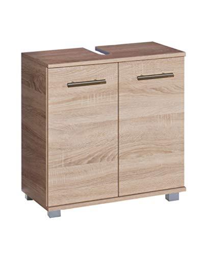 Schildmeyer Waschbeckenunterschrank 121607 Nitro, Sonoma Eiche Dekor, Holzdekor, 60 x 32,6 x 63.4 cm (B/T/H)