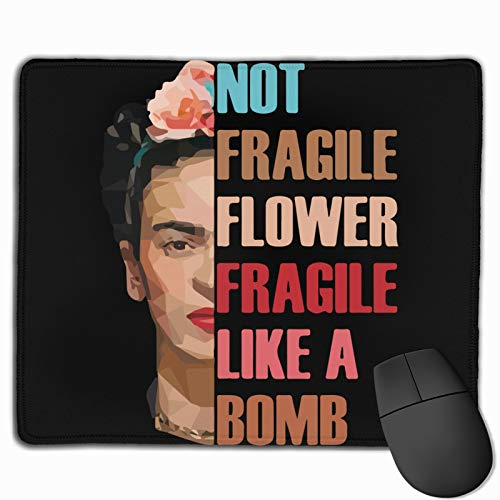 Paniting Fri-Da Ka-Hlo Gaming Mouse Pad Computer Keyboard Mouse Mat Thicken Non-Slip Mousepad Rubber Base and Stitched Edges for Game Players Office