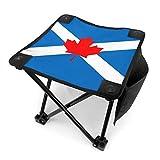 COMMER Taburete plegable con diseño de bandera de Canadienses escoceses, con bolsa de transporte, para pesca, senderismo, jardinería y playa, 30,5 x 30,5 cm