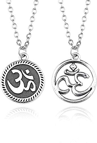 NC122 Collar con Colgante Vintage Steampunk Amuleto Ohm Hindu Budista Yoga Mujeres Moda Joyería Deportiva