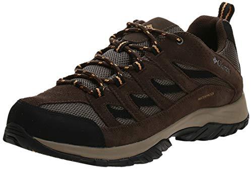 Columbia Men's Crestwood Waterproof Hiking Shoe, mud, Squash, 9.5 Wide