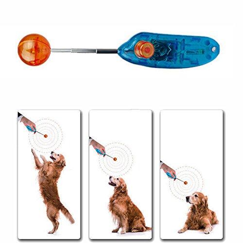Bluelover Nouveauté Extensible Design Pet Huntingtraining Clicker Dog Commandant Rétractable