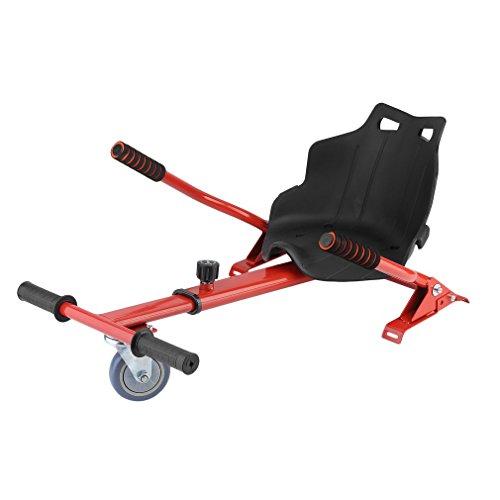 """Blackpoolal Sitzscooter Hoverkart für Roller Self Balance Scooter E-Scooter (6,5\"""" / 8.0\"""" / 10\""""), Verstellbar Sitz GoKart Hover Seat Hoversitz Hover Kart Hoverseat Go Cart Sitz Aufsatz (Rot)"""