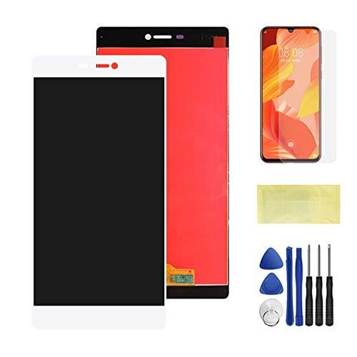 Handy-LCD-Bildschirme Anzeigen Touchscreen-Ersatz mit Rahmen/Fit für Huawei p8 LCD-Anzeige GRA L09 GRA-L09 GRA-UL10 (Color : White No Frame)