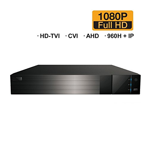 HDVD 4 CH + 1 IP (Total 5CH) All-in-One 1080P DVR Digital Video Recorder, HD-TVI, CVI, AHD (1080P/720P), Analog (Auto-Detect), and 1 IP Security Camera System No HDD
