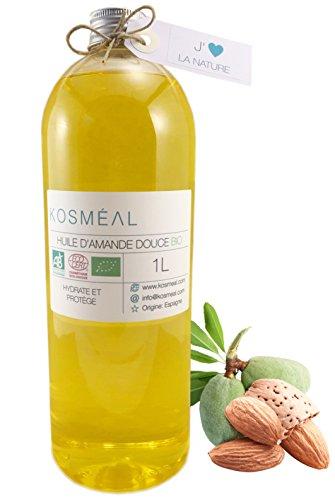 Aceite de almendras dulces orgánico, certificado de agricultura biológica...