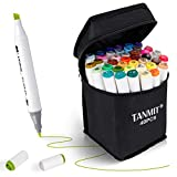 Tanmit Marker Pens Dual Tips Permanent Art Markers for Kids,...
