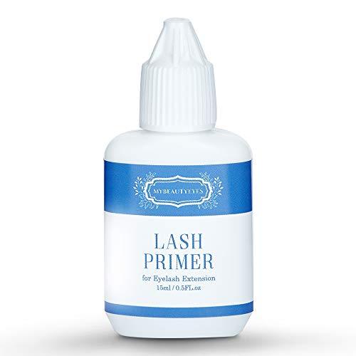 Lash Primer for Eyelash Extension 0.5 FL/oz (15ml) / Pre-Treatment for Semi Permanent Eyelash/Easily Removes Proteins and Oils/Oil Free/Longer Extension Retention (0.5 FL/oz (15ml))