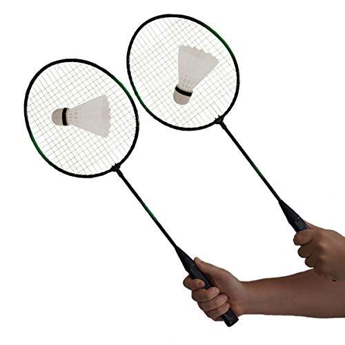Kit Badminton 2 Raquetes + 2 Petecas + Bolsa de transporte